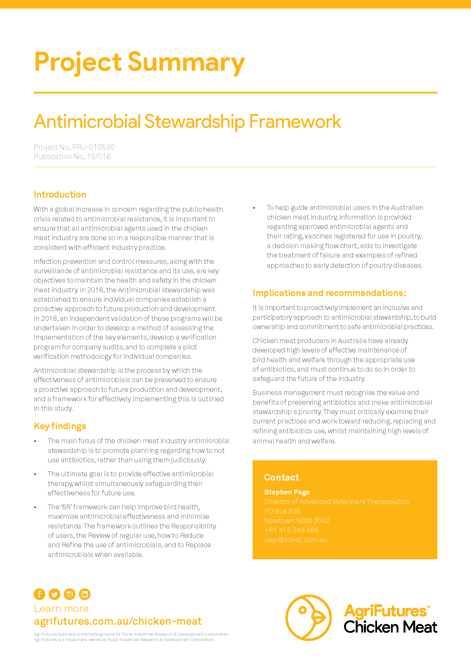 Project Summary: Antimicrobial Stewardship Framework - image