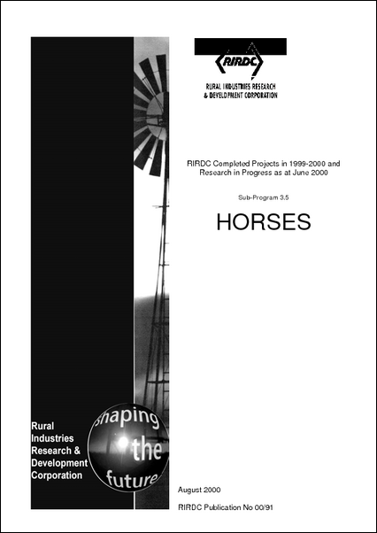 Research in Progress - Horses 1999-2000 - image