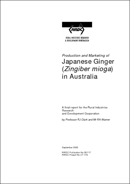 Production and Marketing of Japanese Ginger in Australia - image