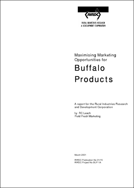 Maximising marketing opportunities for buffalo products - image