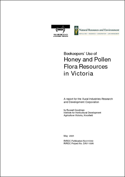 Beekeepers use of honey and flora resource in Victoria - image