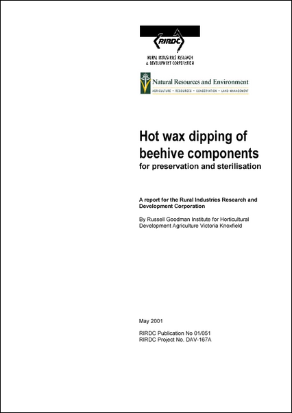 Hot Wax Dipping of Beehive Components - image