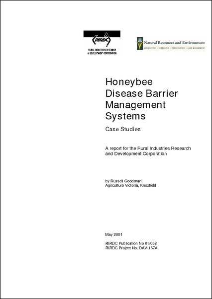 Honeybee Disease Barrier Management Systems - image