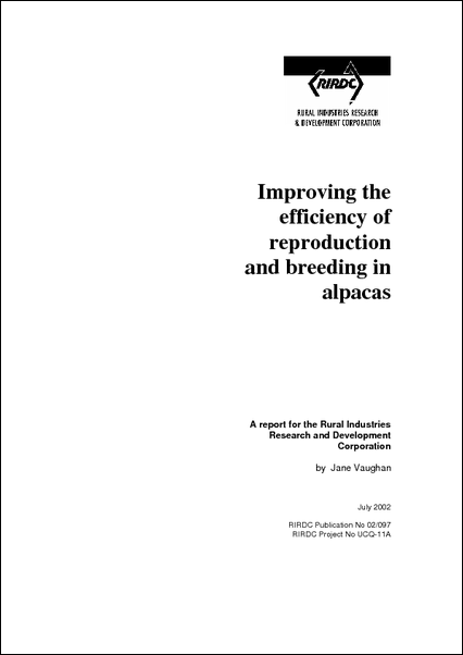 Improving the efficiency of reproduction and breeding in alpacas - image