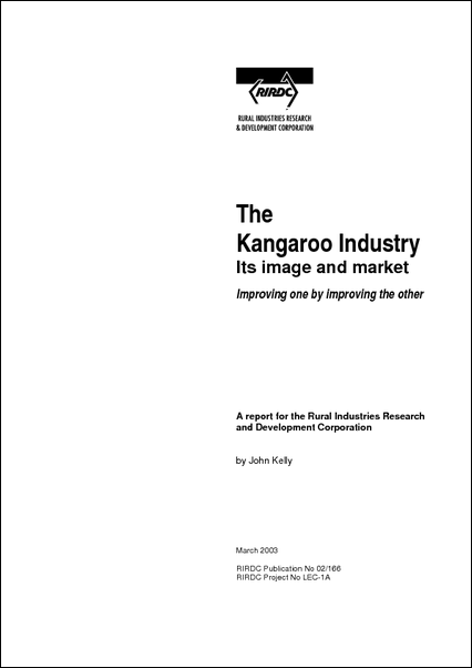 The Kangaroo Industry – Its image and market - image
