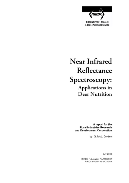 Near Infrared Reflectance Spectroscopy:  Applications in Deer Nutrition - image