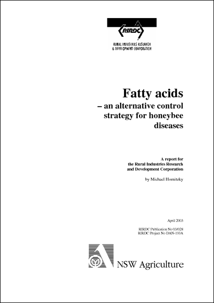 Fatty acids – an alternative control strategy for honeybee diseases - image