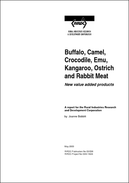 Buffalo, Camel, Crocodile, Emu, Kangaroo, Ostrich and Rabbit Meat - image