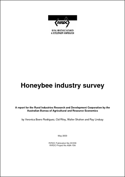 Honey Industry Survey (ABARE) - image