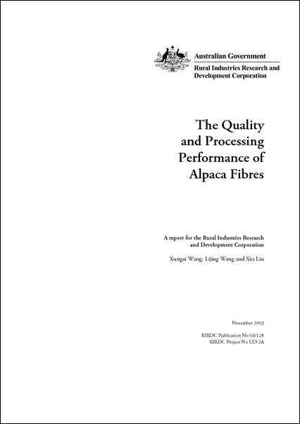 The quality and processing performance of alpaca fibres - image