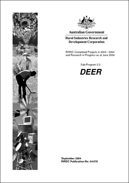 Research in Progress - Deer 2003-2004 - image