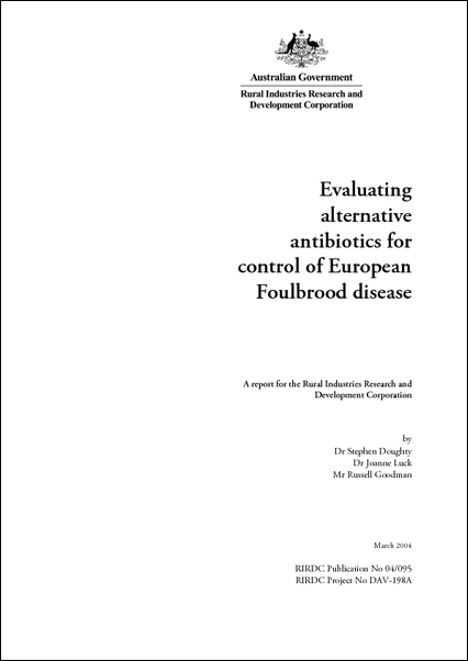 Evaluating alternative antibiotics for control of European Foulbrood disease - image