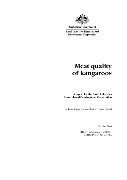 Meat quality of kangaroos - image