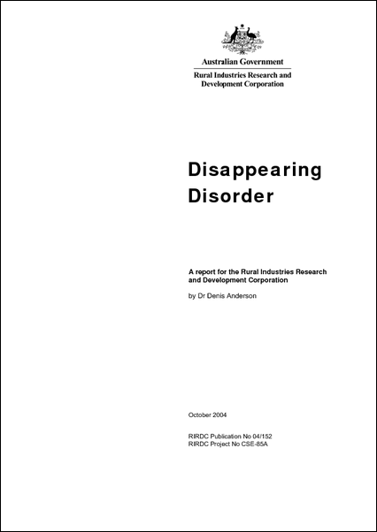 Disappearing Disorder - image