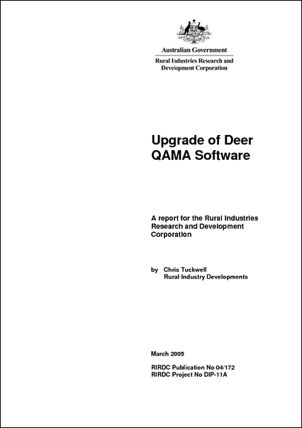 Upgrade of Deer QAMA Software - image