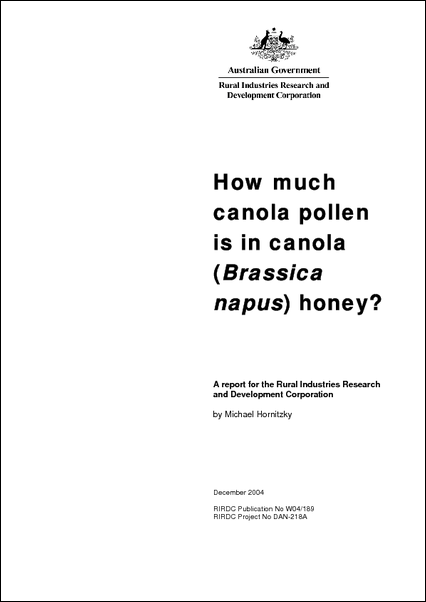 How Much Canola Pollen is in Canola Honey - image