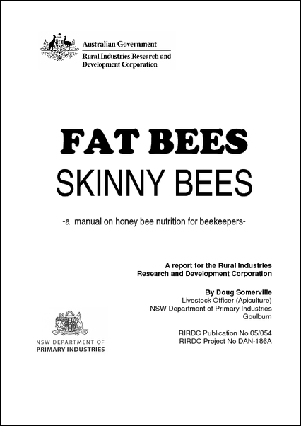 Fat Bees Skinny Bees - a manual on honey bee nutrition for beekeepers - image