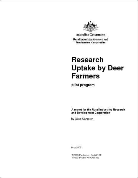 A Review of Research Uptake by Deer Farmers - image