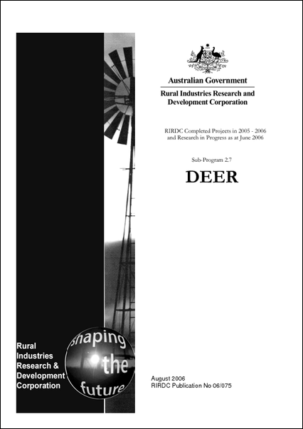 Research in Progress - Deer 2005-2006 - image