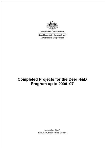 Research in Progress - Deer 2006-2007 - image