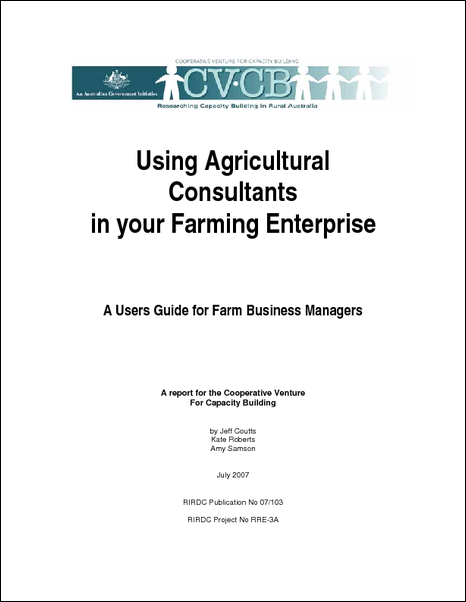 Using Agricultural Consultants in your Farming Enterprise - image