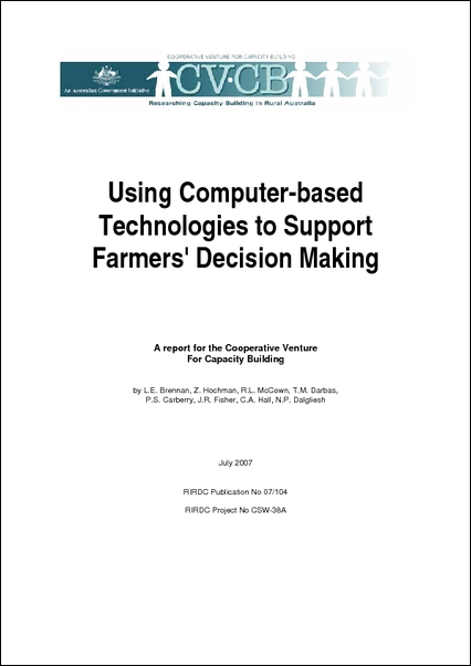 Computer Based Decision-making by Farmers and Advisors - image