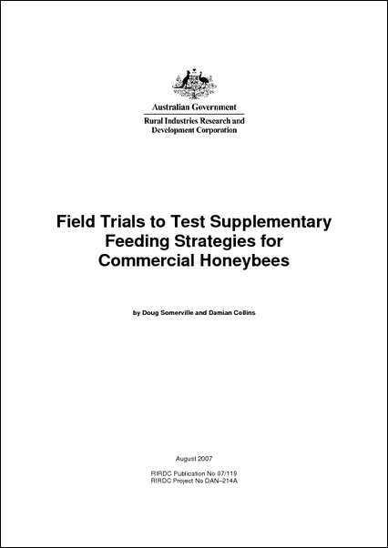Field Trials to Test Supplementary Feeding Strategies for Commercial Honey Bees - image
