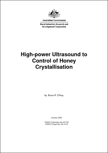 High-Power Ultrasound for Control of Honey Crystallisation - image