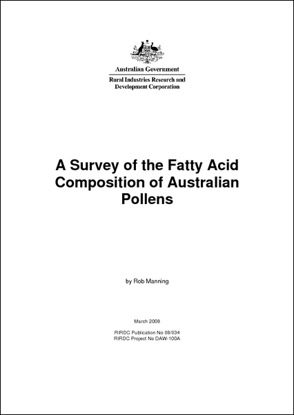 A Survey of the Fatty Acid Composition of Australian Pollens - image