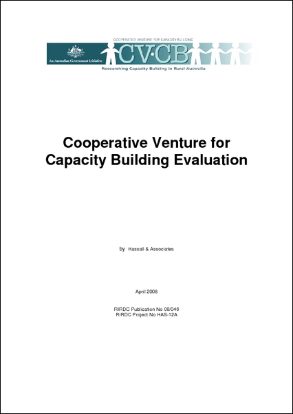 Cooperative Venture for Capacity Building Evaluation Project - image