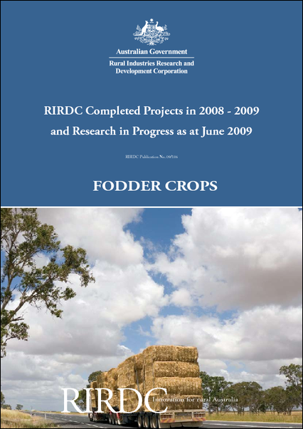 Research in Progress - Fodder Crops 2008-09 - image