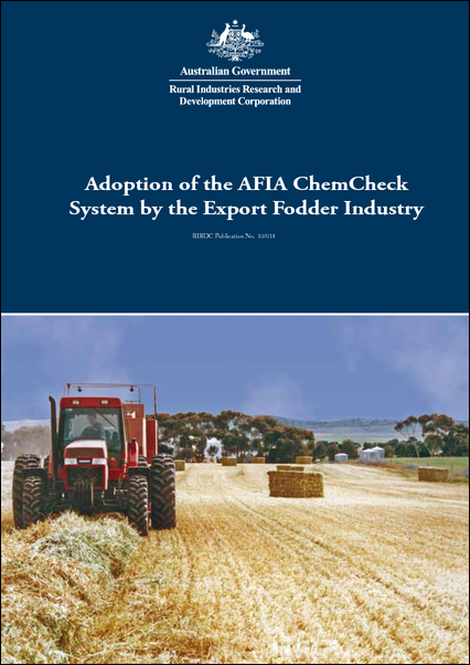 Adoption of the AFIA ChemCheck System by the Export Fodder Industry - image
