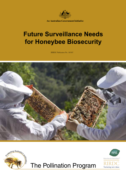 Future Surveillance Needs for Honeybee Biosecurity - image