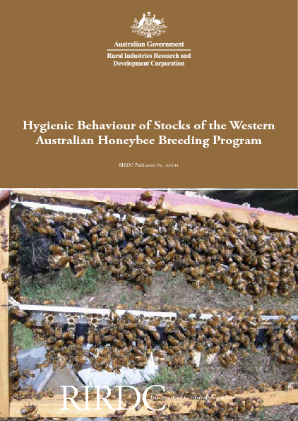 Hygienic Behaviour of Stocks of the Western Australian Honeybee Breeding Program - image