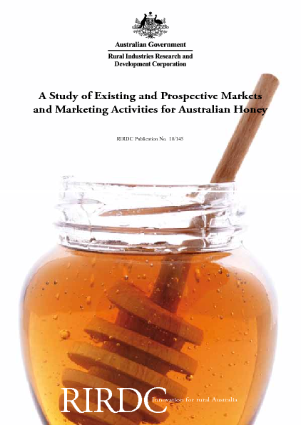 A Study of Existing and Prospective Markets and Marketing Activities for Australian Honey - image