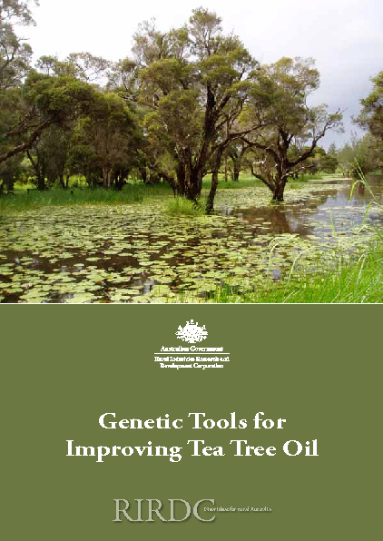 Genetic Tools for Improving Tea Tree Oils - image