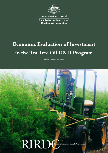Economic Evaluation of Investment in the Tea Tree Oil R&D Program - image