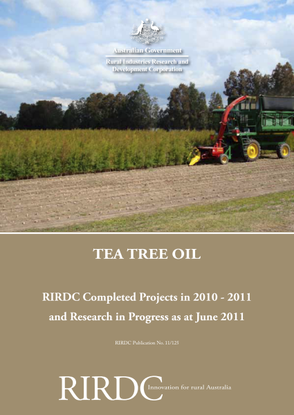 Research in Progress Tea Tree Oil 2010-11 - image