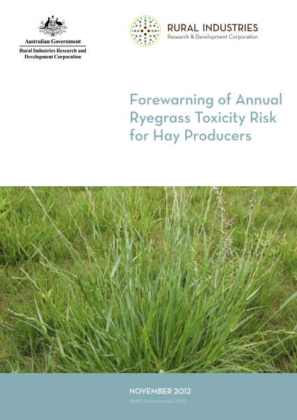 Forewarning of Annual Ryegrass Toxicity Risk for Hay Producers - image