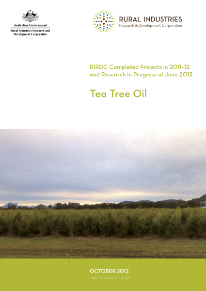 Research in Progress Tea Tree Oil 2011-2012 - image
