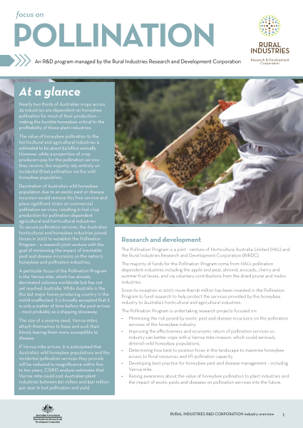 Focus on Pollination Research and Development - image