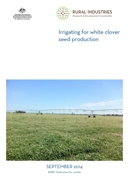 Irrigating for white clover seed production - image