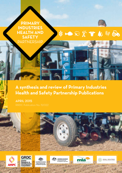 A synthesis and review of Primary Industries Health and Safety Partnership Publications - image