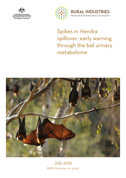 Spikes in Hendra spillover: early warning through the bat urinary metabolome - image
