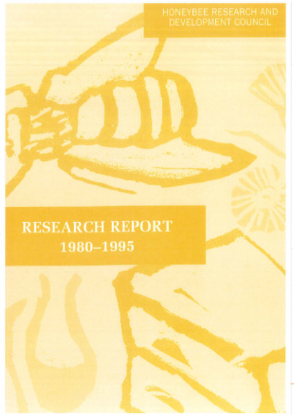 Honeybee Research and Development Council Research Report 1980-1995 - image
