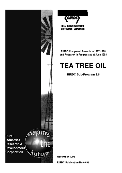 Research in Progress - Tea Tree Oil 1997-1998 - image