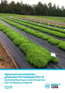 Agronomic and extraction parameters for Centipeda (Part 2) - image