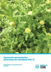 Agronomic and extraction parameters for Centipeda (Part 1) - image