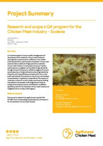 Project summary: Research and scope a QA program for the chicken meat industry - Scolexia - image