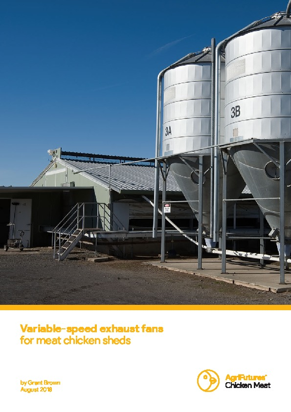 Variable-speed exhaust fans for meat chicken sheds - image
